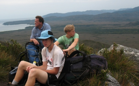 Taking a rest up the Ironbound Ranges