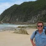 Brendon Sinclair hits the beach